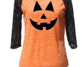 Pumpkin Shirt,  Halloween shirt, Jack O Lantern shirt,