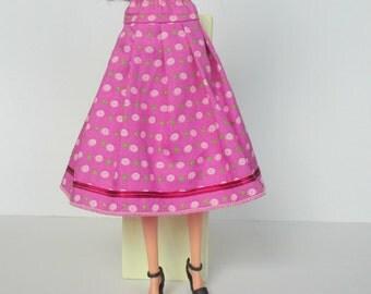 Pink tiered skirt for Barbie, Silkstonebarbie, Poppyparker, Fashionroyalty
