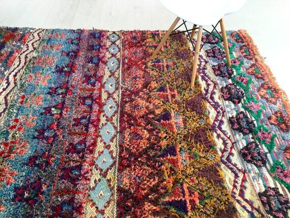 Unique Moroccan boucherouite rug LYS Vintage rag