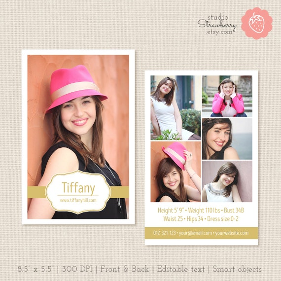 free comp card template - modeling comp card template photoshop template composite