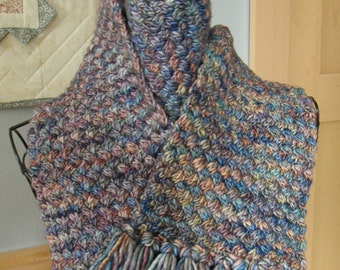 Waffle Knit Scarf / Hand Knit