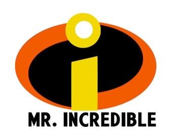 Mr. Incredible Mrs. Incredible Decal / Iron On Vinyl Decal Disney Honeymoon Matching Family Vacation Husband Wife Shirt Mom Dad 4 Shirt 399
