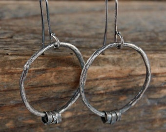 SALE 15% off !! - use the coupon code: SALE15  simple silver earrings