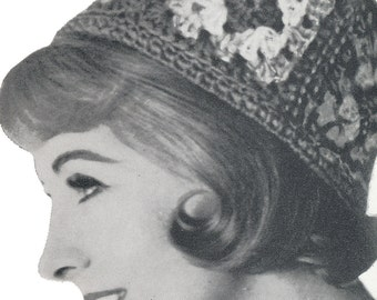 Vintage Crochet Pillbox Hat Pattern
