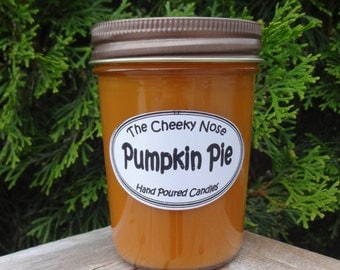 Pumpkin Pie Candle, Pumpkin Pie Soy Candle, Fall Candle, Paraffin Candle, Pumpkin Candle, Soy Candle, Thanksgiving Candle, Scented Candle