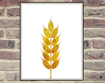 Golden Wheat, Harvest, Printable Art, Golden Wheat Poster, Home Decor, Golden Wall Poster, Gold Art Printable, Wall Art, Instant Download