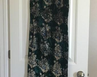 Vintage Crushed Velvet Dress