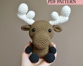 Crochet Amigurumi Pattern: Milton the Moose