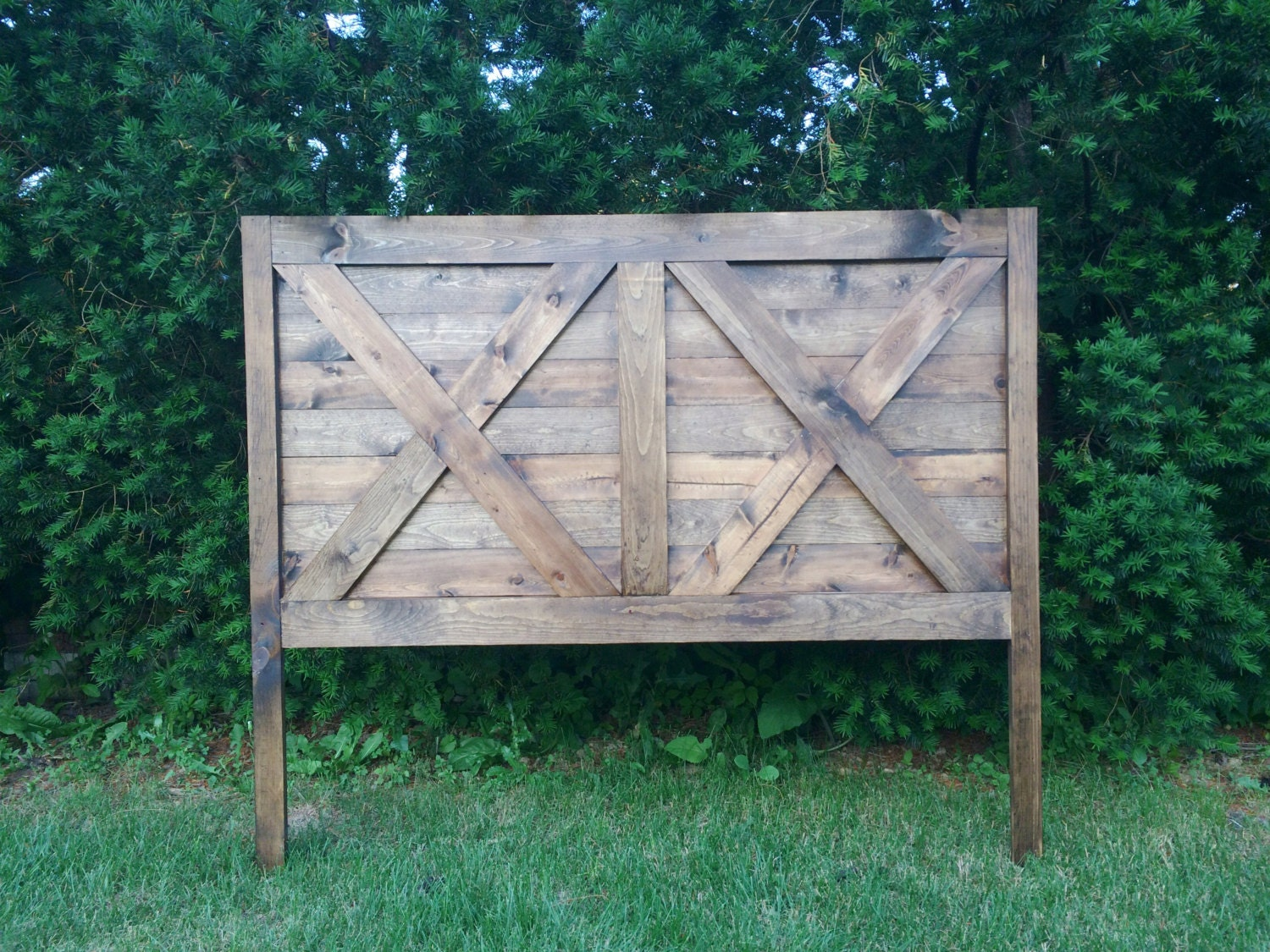 Rustic Farmhouse Headboard King Queen by TheFarmhouseFinds on Etsy