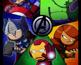 Assemble - 11x17 Print featuring the Avengers!