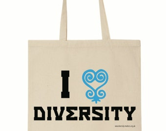 I Love Diversity (Sankofa) - Blue