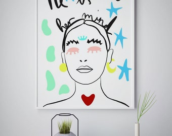 A3 digital print / queen