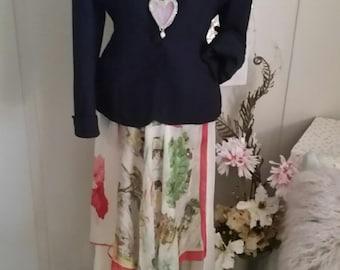Boho Vintage silk skirt