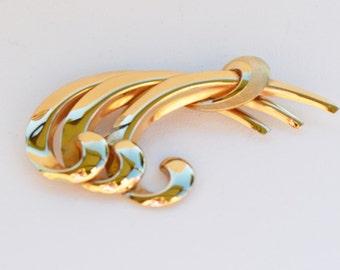 Vintage Art Deco Brooch, Van Dell 14K Gold Filled Vintage Brooch, Vintage Gold Brooch, Van Dell Brooch