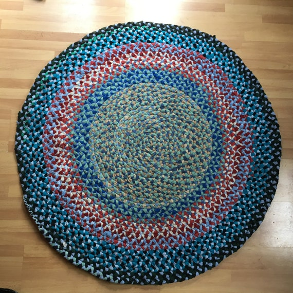 Colorful Braided Handmade Rag Rug