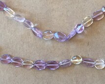 Pink and Purple Amethyst and Citrine polished tiny nuggets 6mm long  (Item # 5067)