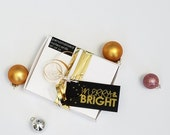 Metallic Holiday Gift Tags -  Black and Gold  - Gift Tags - merry & bright collection