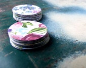 Last one! Vintage Style Flower Stickers, Watercolor Floral Sticker Seals, Country Wedding Paper Embellishment