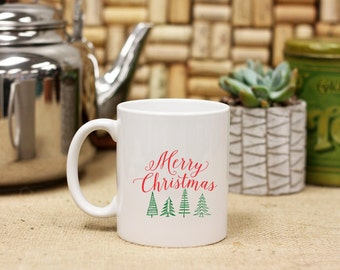 Sublimated Coffee Mug, Holiday Coffee Mug, Happy Holidays Sublimated Mug, Merry Christmas Sublimation, Christmas Mug --28042-CM03-601