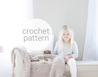 Pattern / Ozetta Crochet Baby Blanket Chunky Knit Wool Throw Toddler Afghan For The THE LITTLE BARROW Blanket
