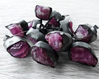 SALE Pink Tourmaline earrings | Rubellite studs | Pink tourmaline post earrings | Rubellite post earrings | Tourmaline posts | Beijo Flor