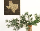 TEXAS STATE wood sign silhouette. WA State. Personalized Map Art 12x12