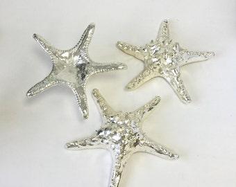 "Beach Decor - Large Silver Knobby Starfish - 7"" - Beach/Coastal/Star Fish/Coastal Decor"