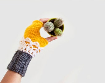 Fingerless Mitts. Fingerless Gloves. Winter Gloves