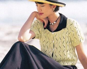 Vintage Japanese Craft Book, Knitting Pattern, Blouse Pattern, Crochet Pattern, Spring Summer Pattern