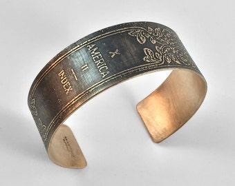 World Classics of Literature - Vintage Book Bracelet | Literary Jewelry, Art Nouveau, Antique Book Gold Cuff Bracelet, Gift for Book Lover