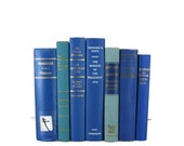 Blue  Vintage  Books , Vintage Wedding Decor, Vintage  Photography Prop , Green decorative books , old books , Gift for Book Lover