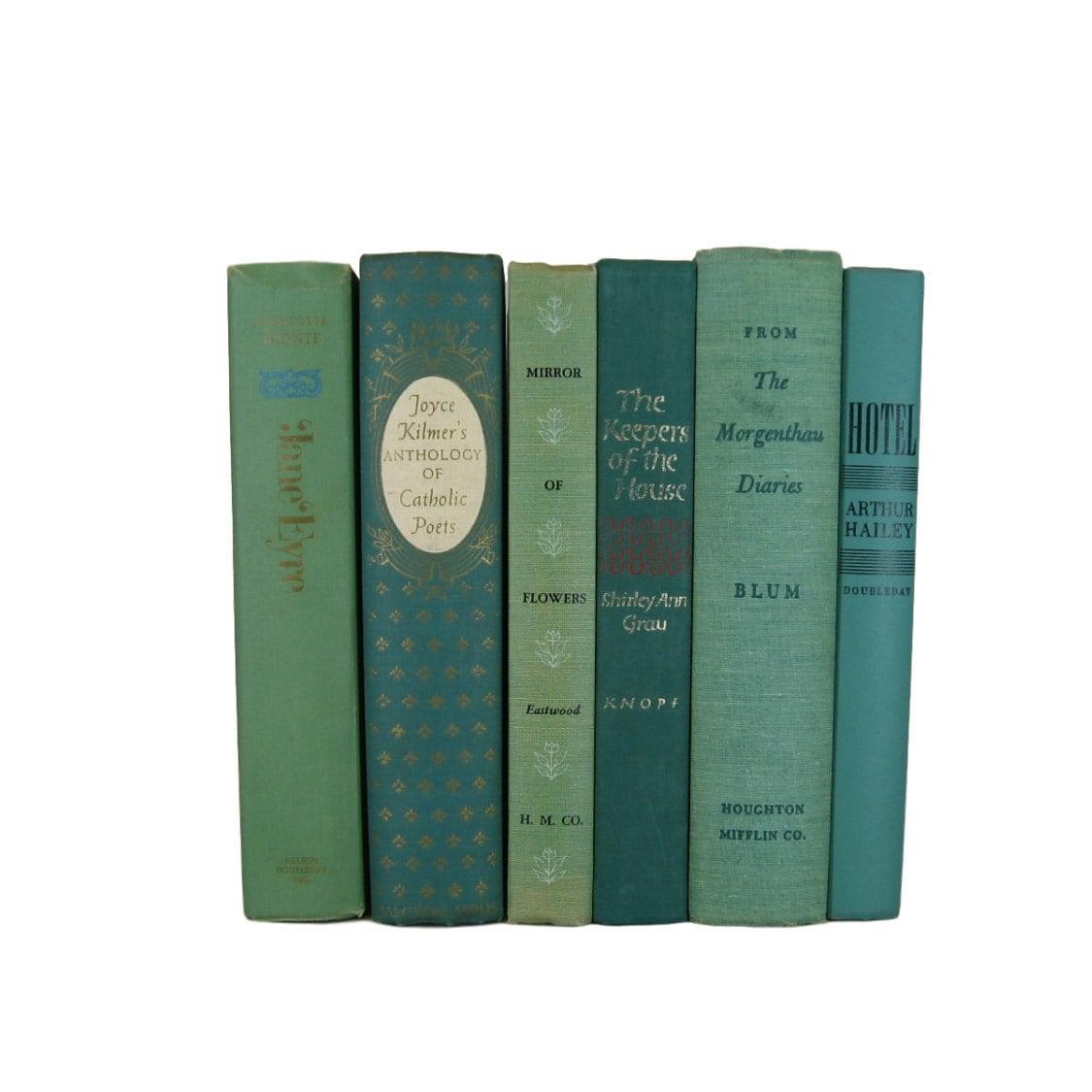 Green Vintage Books Old Books Home Decor Book Sets Vintage