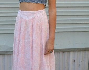 babies breath semi sheer pink gunne sax skirt