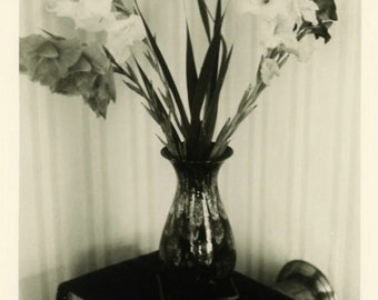 "Vintage Photo ""I'm Sorry Flowers"" Decor Snapshot Photo Antique Photo Black & White Photograph Found Photo Paper Ephemera Vernacular - 200"