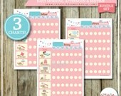 BUNDLE | Monday to Sunday | Printable DAILY Routine Charts | EDITABLE Name | Morning, Afternoon and Bedtime Routine | Pink Theme | Charts