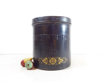 Vintage Metal Ice Cream Container / Dairy Bucket / Rustic Kitchen Decor