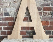 "DIY 24"" Wooden Letter,  Unfinished- any letter available"