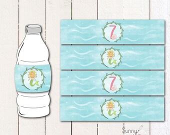 Mermaid/ Under the Sea Printable drink wrapper