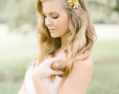 Gold Leaves Floral Headpiece, Silver Bridal Hair Comb, Bridal Hair Accessories, Wedding Hair Comb, Pearl Hair Comb, Crystal Hair Piece