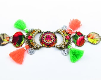 Luxury Ethnic One of a Kind Bracelet