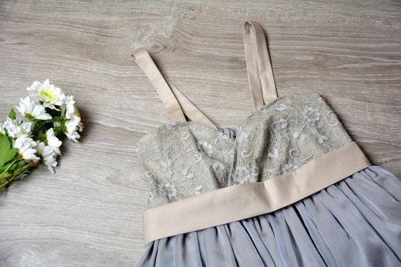 Light grey party dress, cotton dress, chiffon dress, mini dress, lace dress, babydoll dress, slip dress, grey dress