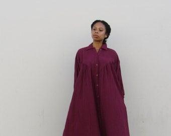 70s Cotton gauze dress