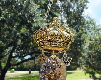 QUEEN BEE Tree Jewelry Christmas Ornament Golden