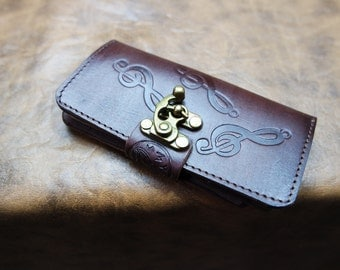 Handmade genuine Cow leather iphone 6 case  /leather iphone 6 Cover