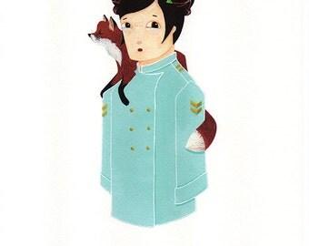 Fox Girl ( print )
