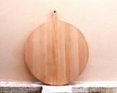 Greek Pastry Board, plastiri, round cutting board, wooden, bread board, pastry board, traditional, baker's gift, Greek food, Crete, Greece
