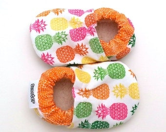 pineapple baby shoes baby girl pineapple booties tropical baby girl orange and green shoes soft sole shoes baby