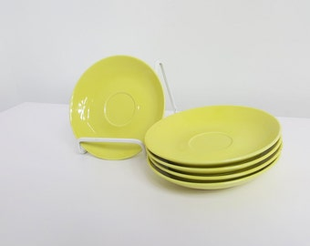 Arabia of Finland Yellow Saucer Plates