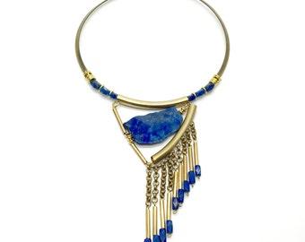 HEMERA - Lapis Lazuli, Lapis, Lapis Lazuli Necklace, Lapis Necklace, Lapis Jewelry, Lapis Jeweller, Choker, Statement Necklace, Sodalite