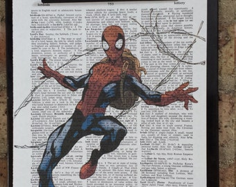Spider-Man Dictionary Print